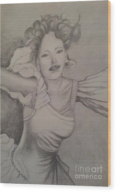 Lady Wood Print by Debra Piro