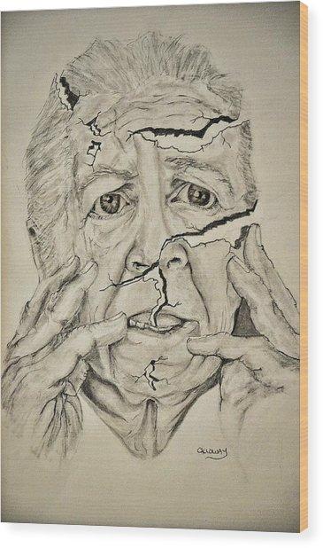 Lady Falling Apart Wood Print by Glenn Calloway