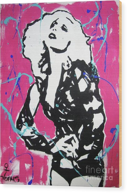 Lady Gaga Wood Print by Venus