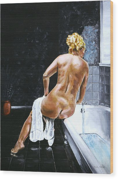 Lady In Waiting Wood Print