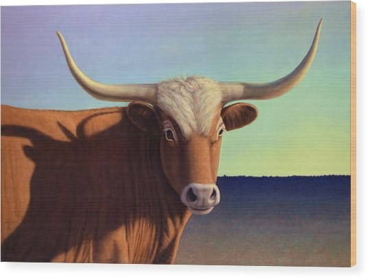 Lady Longhorn Wood Print