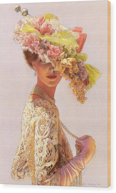 Lady Victoria Victorian Elegance Wood Print