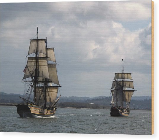 Lady Washington And The Hawaiian Chieftain Wood Print