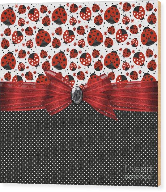 Ladybug Grandeur Wood Print