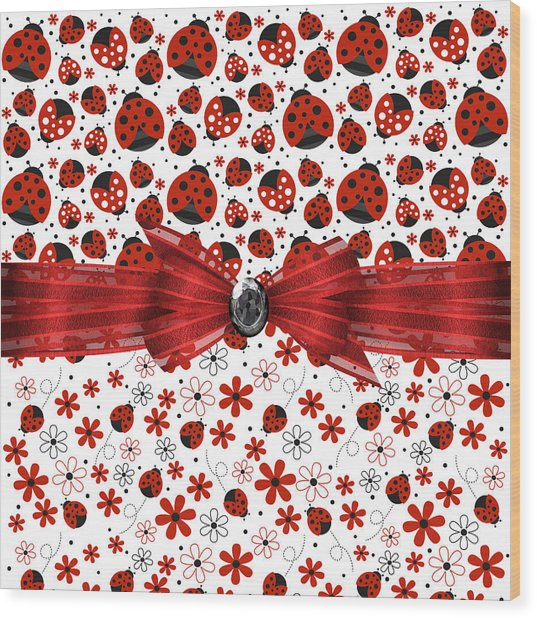 Ladybug Magic Wood Print