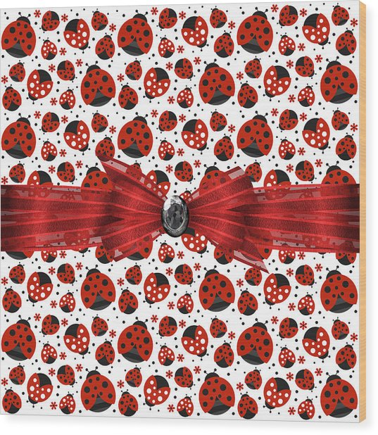 Ladybug Obsession  Wood Print