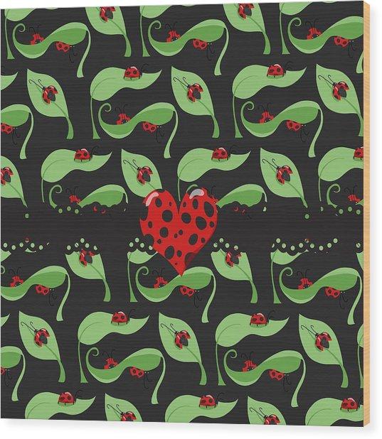 Ladybug Riches Wood Print