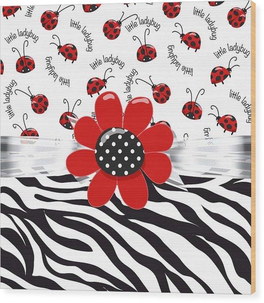 Ladybug Wild Thing Wood Print