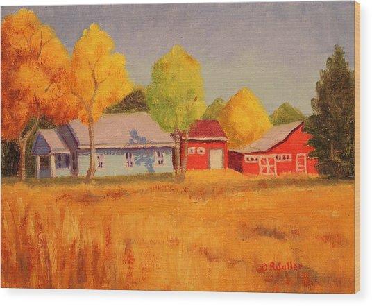 Lafayette Farm  Wood Print