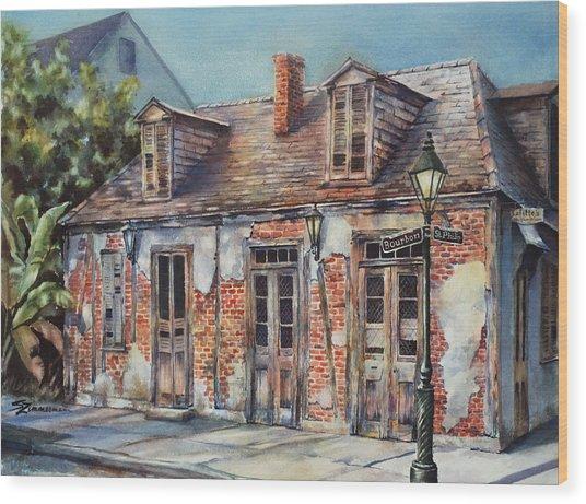 Lafitte's Blacksmith Shop Wood Print by Sue Zimmermann