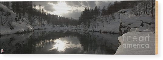 Lago Delle Streghe Wood Print by Marco Affini