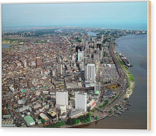 Lagos Wood Print by Alex Bartel/science Photo Library