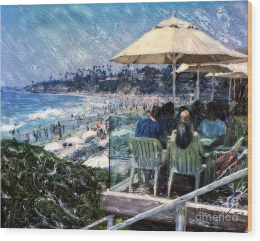 Laguna Beach Hotel Afternoon Wood Print