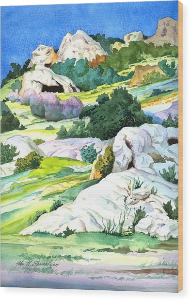 Laguna Canyon Rocks Wood Print