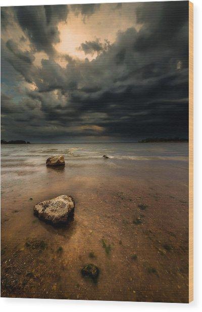 Lake And Clouds Wood Print by Garett Gabriel