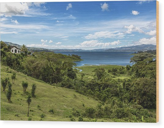 Lake Arenal View In Costa Rica Wood Print