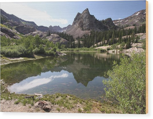 Lake Blanche Wood Print