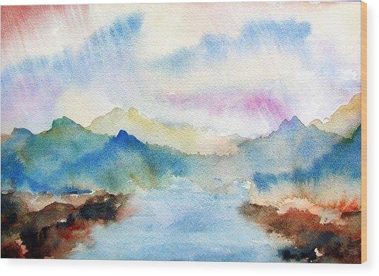 Lake Chuzenji Nikko Wood Print