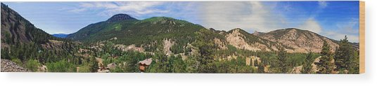 Lake City Colorado Mountain Range Wood Print
