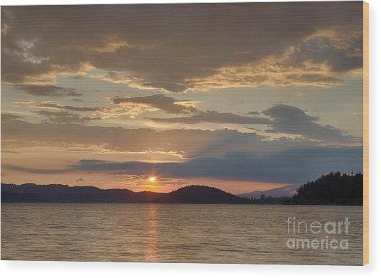 Lake Coeur D Alene Wood Print