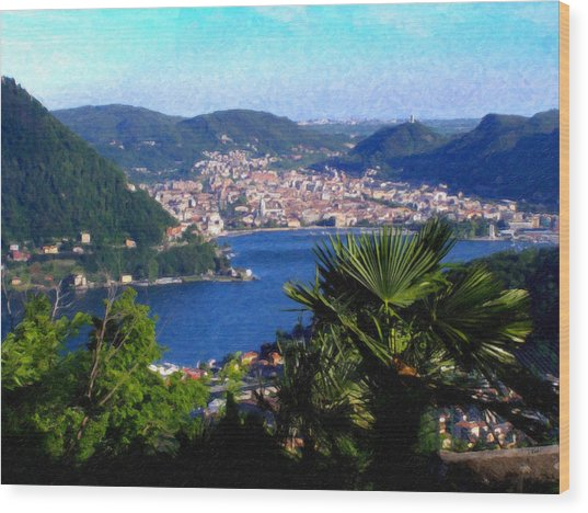 Lake Como Itl7724 Wood Print