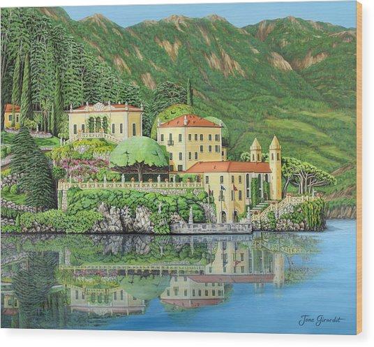 Lake Como Morning Wood Print