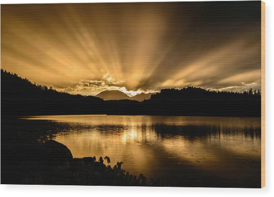 Lake Dillon Sunset Wood Print