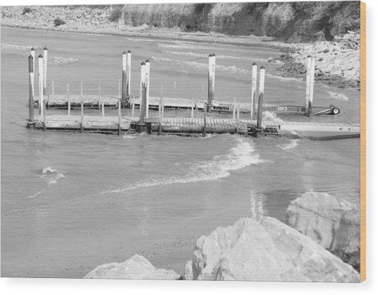 Lake Erie Dock Wood Print