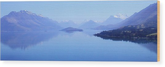 Lake Glenorchy New Zealand Wood Print
