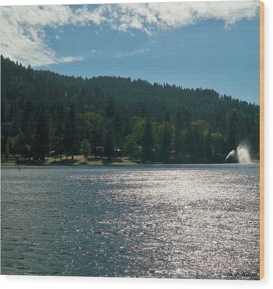 Scenic Lake Photography In Crestline California At Lake Gregory Wood Print