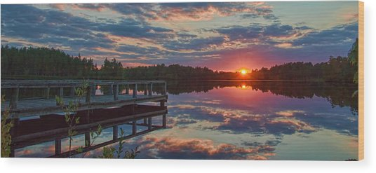 Lake Horicon Sunset 1 Wood Print