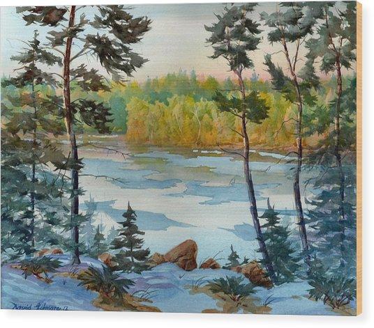 Lake Ice Before Break Up Wood Print