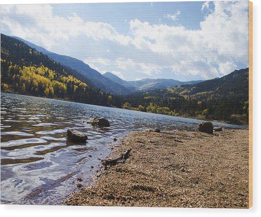 Lake In Colorado Rockies Wood Print