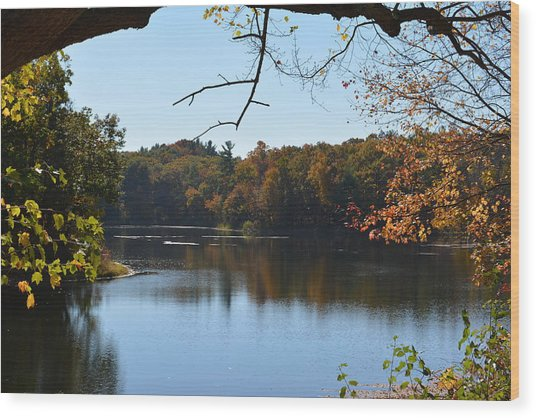 Lake In The Catskills Wood Print