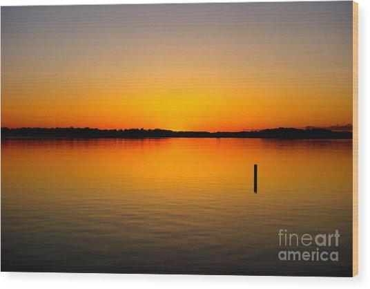 Lake Independence Sunset Wood Print