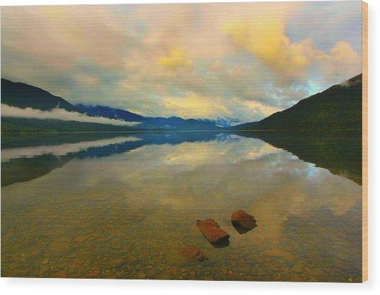 Lake Kaniere New Zealand Wood Print