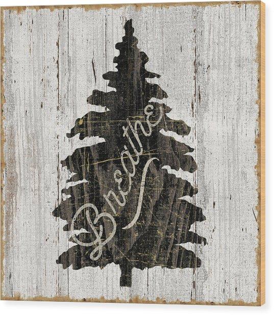 Lake Lodge X Neutral Wood Print