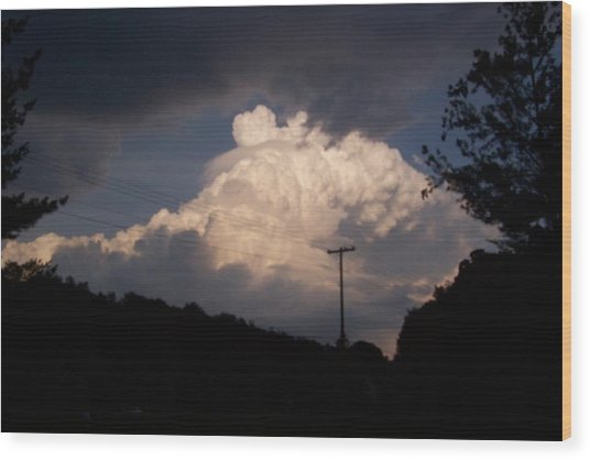 Lake Logan Thunderhead Wood Print
