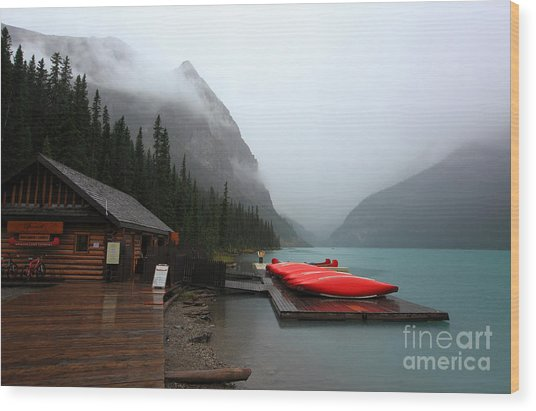 Lake Louise In Banff Alberta Wood Print