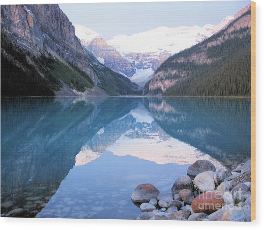 Lake Louise Morning Wood Print