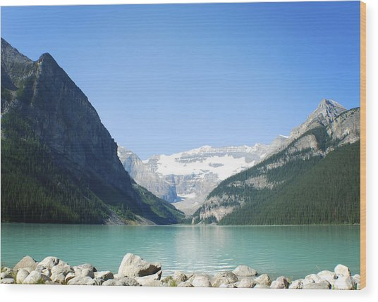 Lake Louise Alberta Canada Wood Print