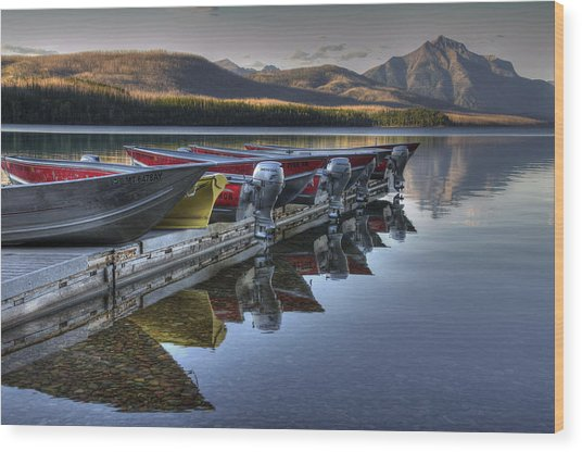 Lake Mcdonald Wood Print