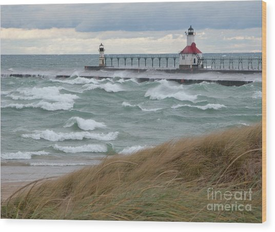 Lake Michigan Winds Wood Print