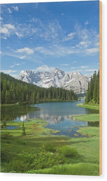 Lake Misurina Wood Print by Bob Gibbons