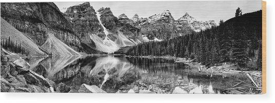 Lake Moraine Reflection Wood Print