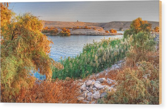 Lake Nasser Sunset Wood Print
