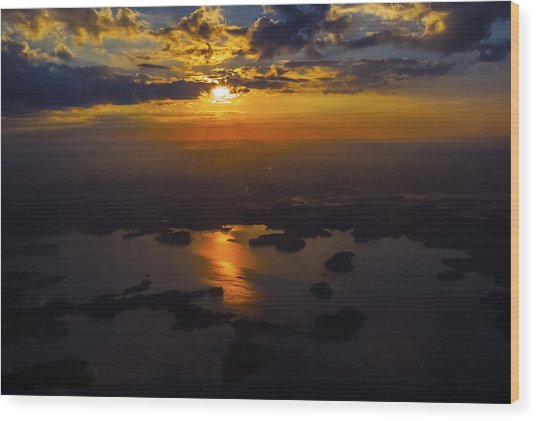 Lake Norman Sunrise Wood Print