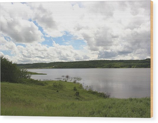 Lake Of The Prairies Wood Print