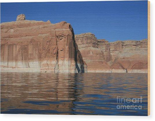 Lake Powell Cliffs Wood Print