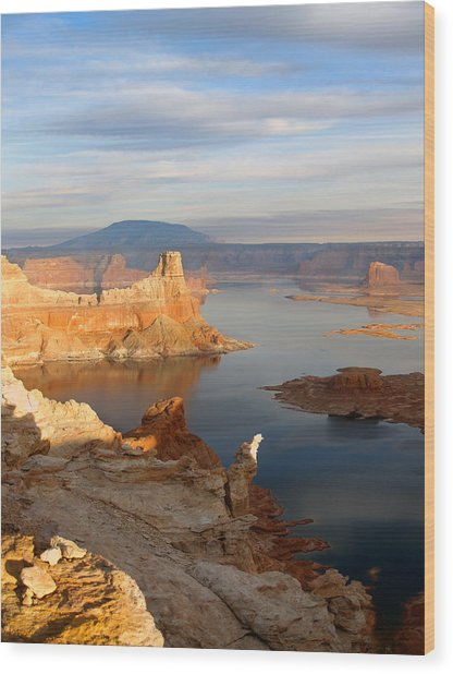 Lake Powell From Alstrum Pt 12 Wood Print